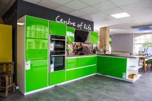 grifflose Küche Grün